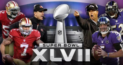 Join us for Superbowl Bowl XLVII - click for details.